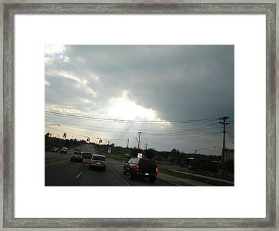 Heaven Lighting The Way Framed Print by Suzanne Perry