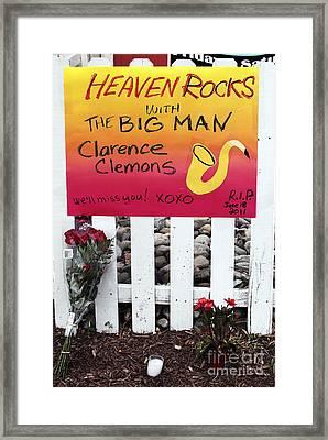 Heaven Rocks With The Big Man Framed Print by John Rizzuto