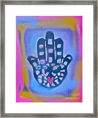 Heavenly Hamza 1 Framed Print by Tony B Conscious