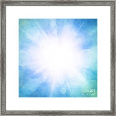 Heavenly Sky Framed Print by Carlos Caetano