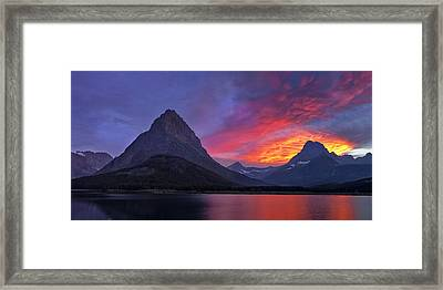 Heaven's Ablaze Framed Print by Andrew Soundarajan