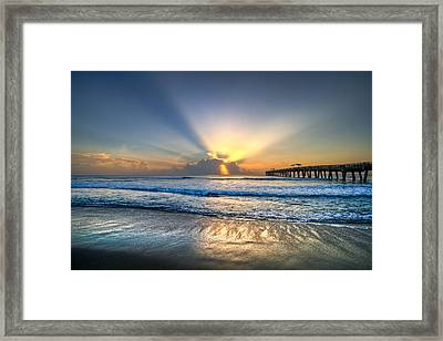 Heaven's Door Framed Print by Debra and Dave Vanderlaan
