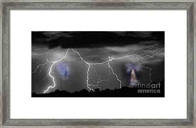 Heavens Gates Happy Easter Framed Print by James BO  Insogna
