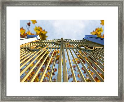 Heavens Golden Gates And Autumn Leaves Framed Print by Allan Swart