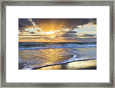 Heaven's Skylight Framed Print by Debra and Dave Vanderlaan