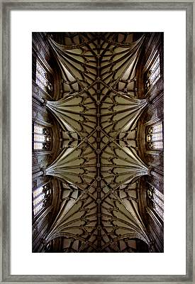 Heavenward -- Winchester Cathedral Ceiling Framed Print by Stephen Stookey