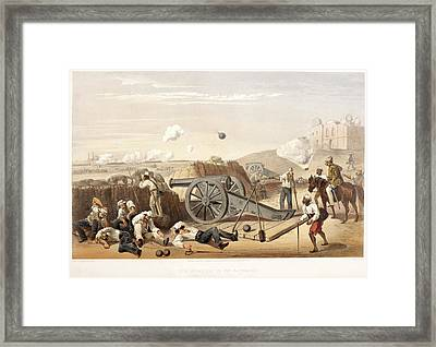 Heavy Day In The Batteries Framed Print by British Library
