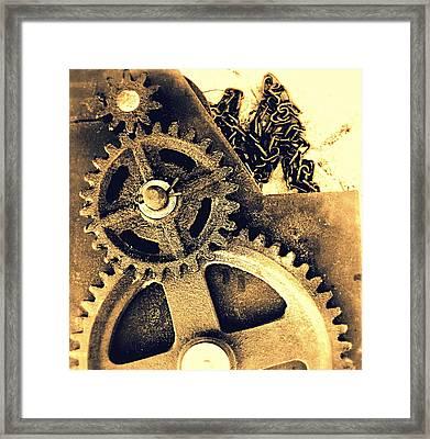 Heavy Metal Framed Print by Victoria Maxon