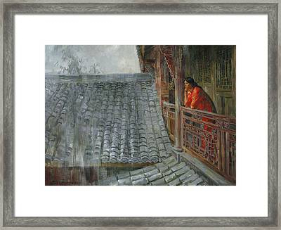 Heavy Rain In Sichuan Province Framed Print by Victoria Kharchenko