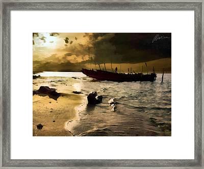 Heavy Sky Framed Print by Marina Likholat