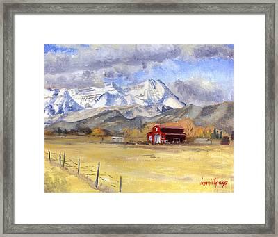 Heber Valley Farm Framed Print by Jeff Brimley