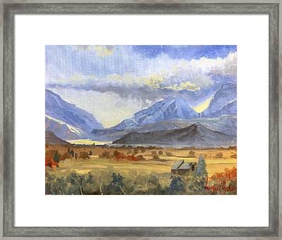 Heber Valley Sunset Framed Print by Jeff Brimley