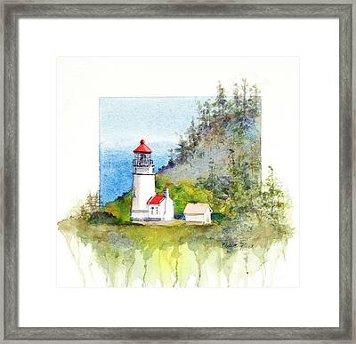 Heceta Head Lighthouse Framed Print by Bonnie Rinier