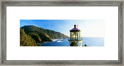 Heceta Head Lighthouse, Florence Framed Print by Panoramic Images