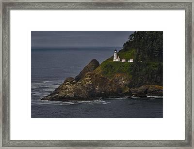Heceta Head Lighthouse Framed Print by Joan Carroll