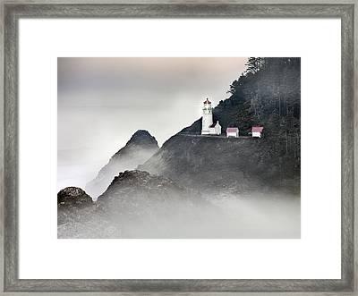 Heceta Head Lighthouse Framed Print by Leland D Howard