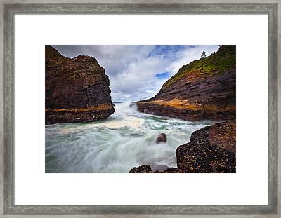 Heceta Inlet Framed Print by Darren  White