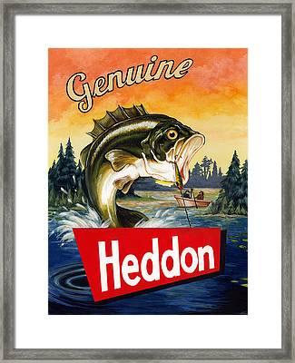 Heddon Lures Framed Print by Kelly Gilleran