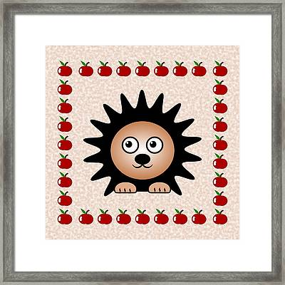 Hedgehog - Animals - Art For Kids Framed Print by Anastasiya Malakhova
