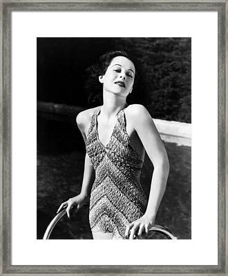 Hedy Lamarr, 1938 Framed Print by Everett