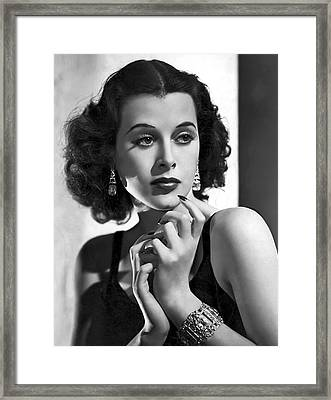 Hedy Lamarr - Beauty And Brains Framed Print by Daniel Hagerman