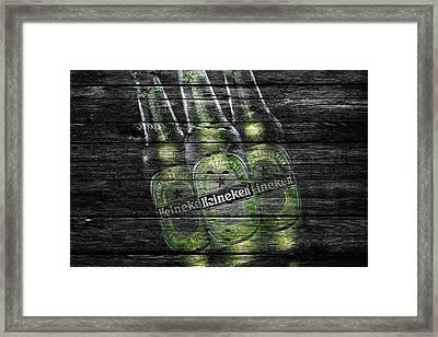 Heineken Bottles Framed Print by Joe Hamilton