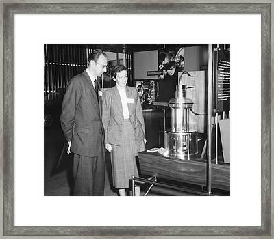 Heinz And Doris Wilsdorf Framed Print by Emilio Segre Visual Archives/american Institute Of Physics