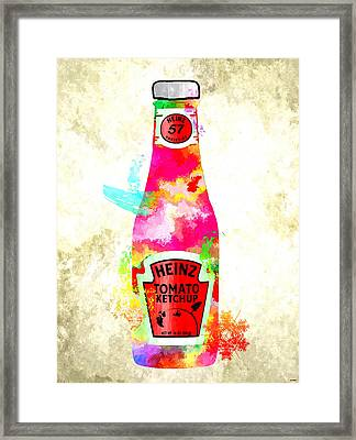 Heinz Framed Print by Daniel Janda