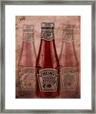 Heinz Tomato Ketchup Framed Print by Dan Sproul