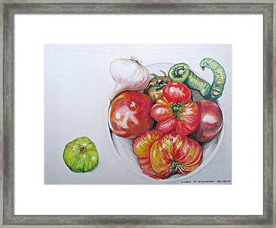 Heirloom Tomatoes Framed Print by Linda Williams