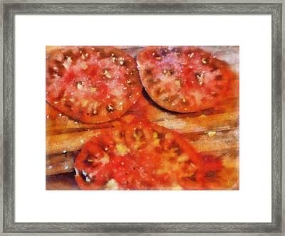 Heirlooms With Salt And Pepper Framed Print by Michelle Calkins