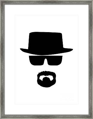 Heisenberg Breaking Bad Framed Print by Caio Caldas