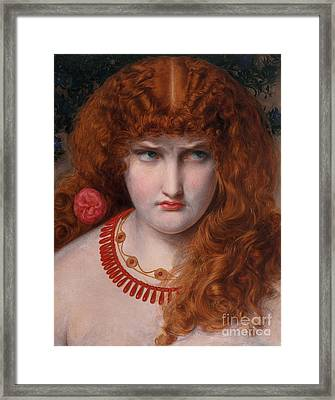 Helen Of Troy Framed Print by Anthony Frederick Augustus Sandys