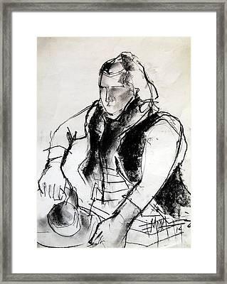 Helene #3 - Figure Series Framed Print by Mona Edulesco