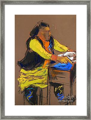Helene #5 - Figure Series Framed Print by Mona Edulesco
