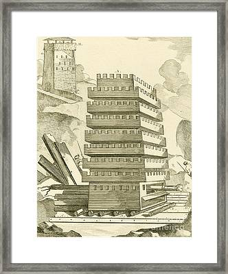 Helepolis Siege Tower, 305 Bc Framed Print by Mid-manhattan Library