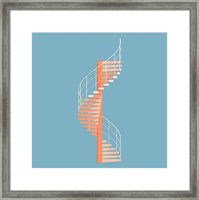 Helical Stairs Framed Print by Peter Cassidy