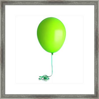 Helium-filled Balloon Framed Print by Science Photo Library