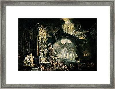 Hell Framed Print by Francois de Nome
