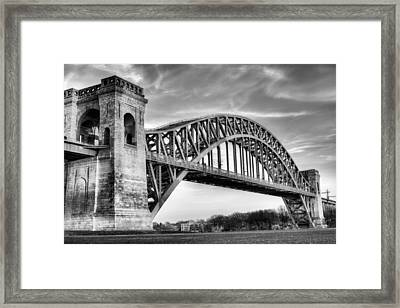 Hell Gate Bw Framed Print by JC Findley