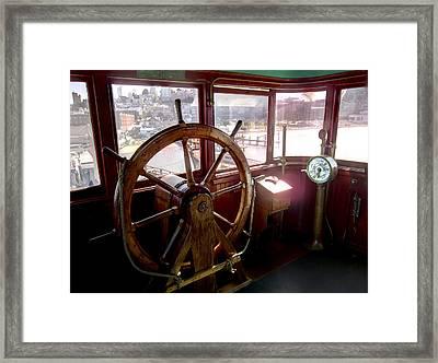 Helm Of Victorian Eureka Ferry Framed Print by Daniel Hagerman