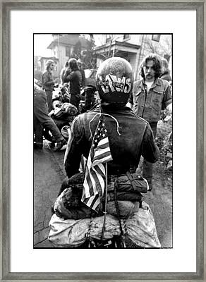 Helmet Laws Suck Framed Print by Doug Barber