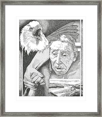 Helping Hand Framed Print by Clayton Cannaday