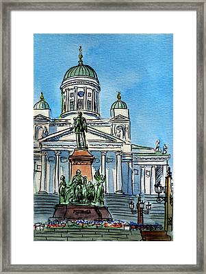 Helsinki Finland Framed Print by Irina Sztukowski