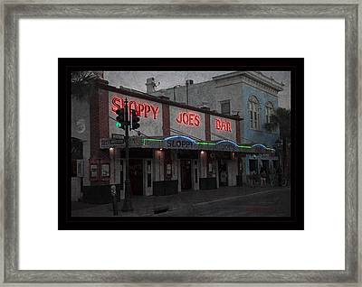 I Heard I Was In Town Framed Print by John Stephens
