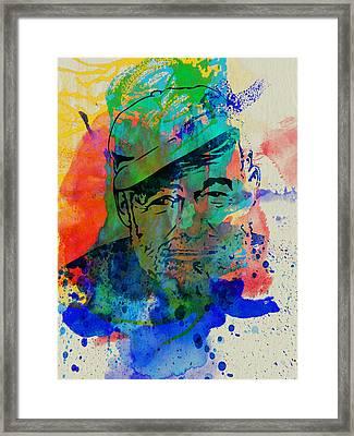 Hemingway Watercolor Framed Print by Naxart Studio