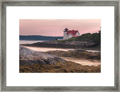 Hendricks Head Light At Sunset Framed Print by At Lands End Photography