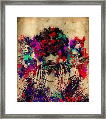 Hendrix 2 Framed Print by Bekim Art