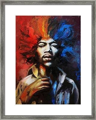 Hendrix - Spectrum Framed Print by Brandon Coley