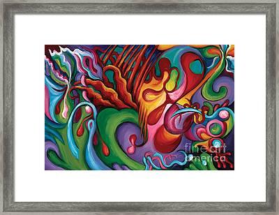 Hendrix Voodoo Magick Framed Print by Tiffany Davis-Rustam